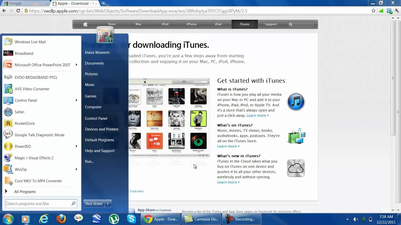 how ro install itunes download manually