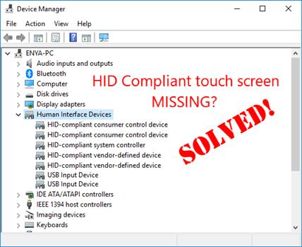 hid compliant touch screen driver manual download