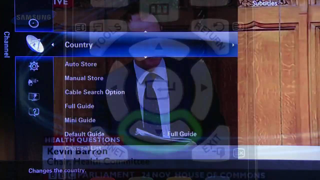 how to manually tune samsung tv