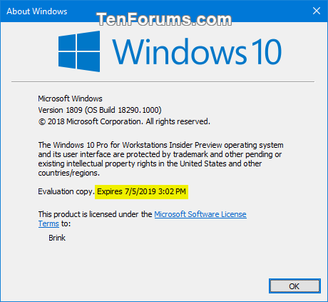 how to manually download the win 10 v1803